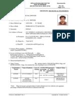 CV Format- M.tech.
