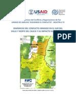 Dinámicas Del Conflicto Armado en El Sur Del Valle y Norte Del Cauca.