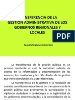 TRANSFERENCIA Regional y Municipal
