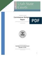 Utah District Court Commissioner Study Report 2014