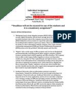 Individual Assignment (Deadline- Jan 13, 2014)