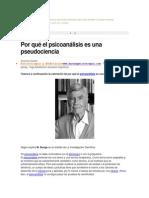Psicoanalisis Psuedociencia¡?
