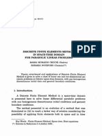 Discrete Finite Elements Method in Space-Time Domain for Parabolic Linear Problems