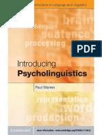 P. Warren - Introducing Psycholinguistics