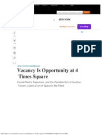 Vacancy is Opportunity at 4 Times Square - WSJ