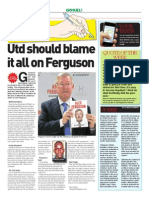 United Should Blame It All on Ferguson