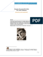 Horacio Martinez - Theadore Roszak - Um Contra-obituario - Artigo