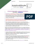 Comunicazione in Rete e Spazialità Prossemica