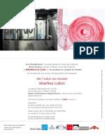 "Martine Lafon ""De l'Usine Au Musée"" Dossier de Presse"