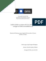 Análisis jurídico-económico de la Ley 20.453 que consagró en Chile el principio de neutralidad en la red