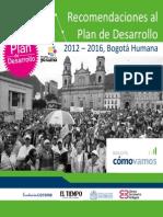 BCV-2012-Recomendaciones Plan Desarrollo Bogota Humana