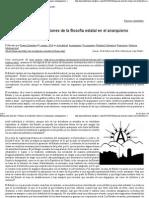 'Visiones de La Filosofía Estatal en El Anarquismo Contemporáneo' - Praxis Libertaria - Capi Vidal