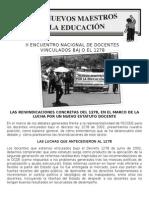 eLAS REIVINDICACIONES CONCRETAS DEL 1278, EN EL MARCO DE LA LUCHA POR UN NUEVO ESTATUTO DOCENTE
