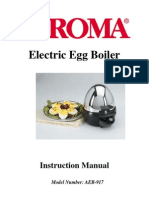 Aroma Egg Cooker Instruction Manual