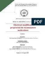 Rezumat Electrozi Modificati Cu Proprietati de Recunoastere Moleculara
