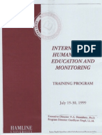 International Human Rights Education and Monitoring Training Progrom