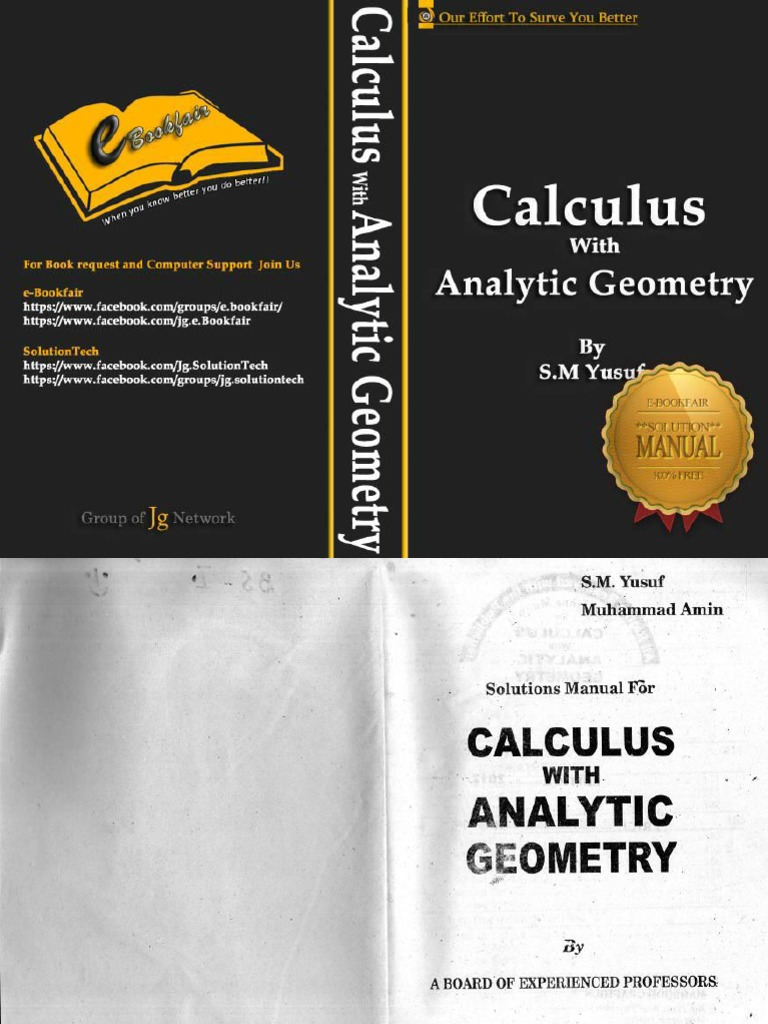 Calculus with analytic geometry sm yusuf solution manual fandeluxe Gallery