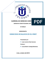 Derechos Humanos en El Peru