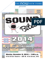 Sound Bites 2014 Program