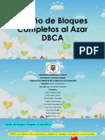 Diseño de Bloques Completos Al Azar DBCA
