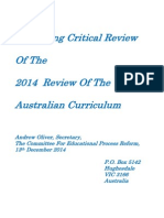 A Panning Critical Review of the Curriculum Review 2014