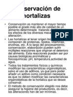 Conservacion de Hortalizas