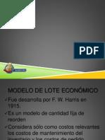 Modelo Lote Economico