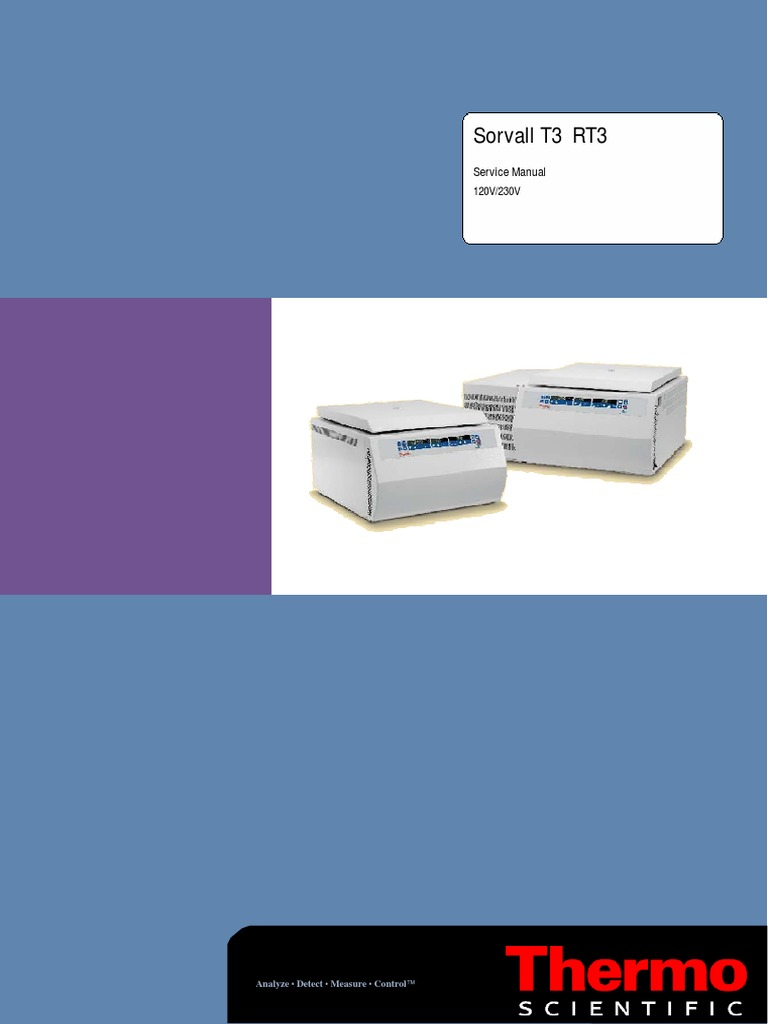 Thermo Sorvall T3 Centrifuge - Service Manual   Electrical Engineering    Electromagnetism