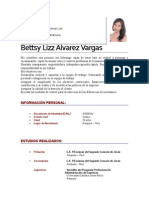 Cv Bettsy Alvarez