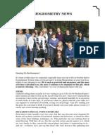 Biogeometry Newsletter 1 Sept-2011