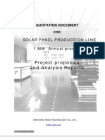 1 MW Quotation Documnets for Solar Panel Proudction Line 2014