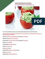 14ª Guacamole Stuffed Cherry Tomatoes