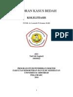 TINJAUAN PUSTAKA (kolelitiasis)