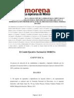 CONVOCATORIA PARA LA SELECCIÓN DE CANDIDATURAS A DIPUTADAS Y DIPUTADOS FEDERALES POR EL PRINCIPIO DE MAYORÍA RELATIVA Y REPRESENTACIÓN PROPORCIONAL PARA EL PROCESO ELECTORAL FEDERAL 2014-2015
