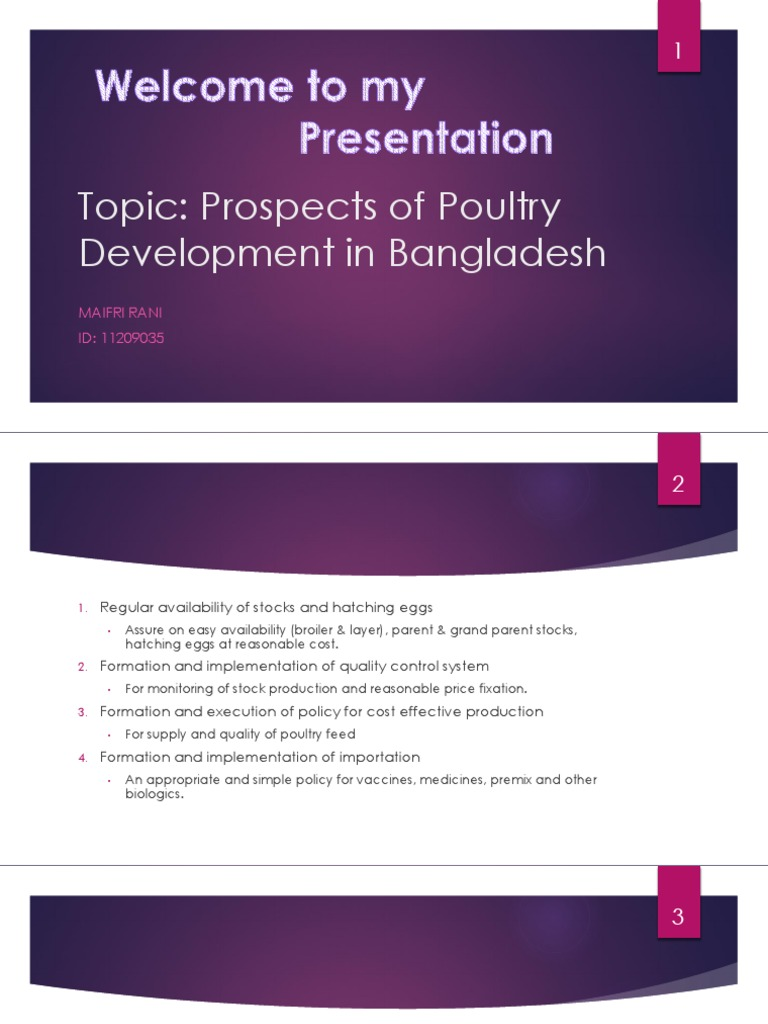 Prospects of Poultry Development in Bangladesh | Poultry