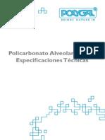 Especificaciones tecnicas POLICARBONATO