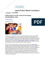 how to implement project based learning to engage students