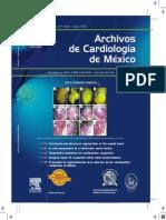 Vol80Num2Abril Junio2010 Revista Archivos de Cardiologia