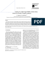 Catalysis Today Volume 66 Issue 2-4 2001 [Doi 10.1016%2Fs0920-5861%2800%2900626-x] C Maretto_ R Krishna -- Design and Optimisation of a Multi-stage Bubble Column Slurry Reactor for Fischer–Tropsch Synthesis