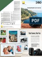 Nikon Digital SLR Camera D60 Specifications