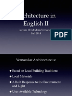 Lecture 12 Vernacular Modernism