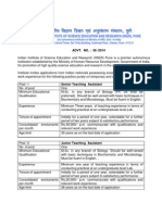 IISER - Teaching Assistant Job Notification