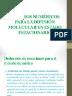 Métodos Numéricos Para La Difusión Molecular en Estado