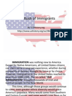 the rush of immigrants