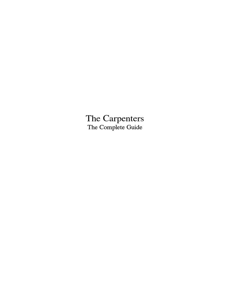 The carpenterspdf recorded music american musical groups fandeluxe Image collections