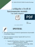 Cefalea e Funzionamento Mentale