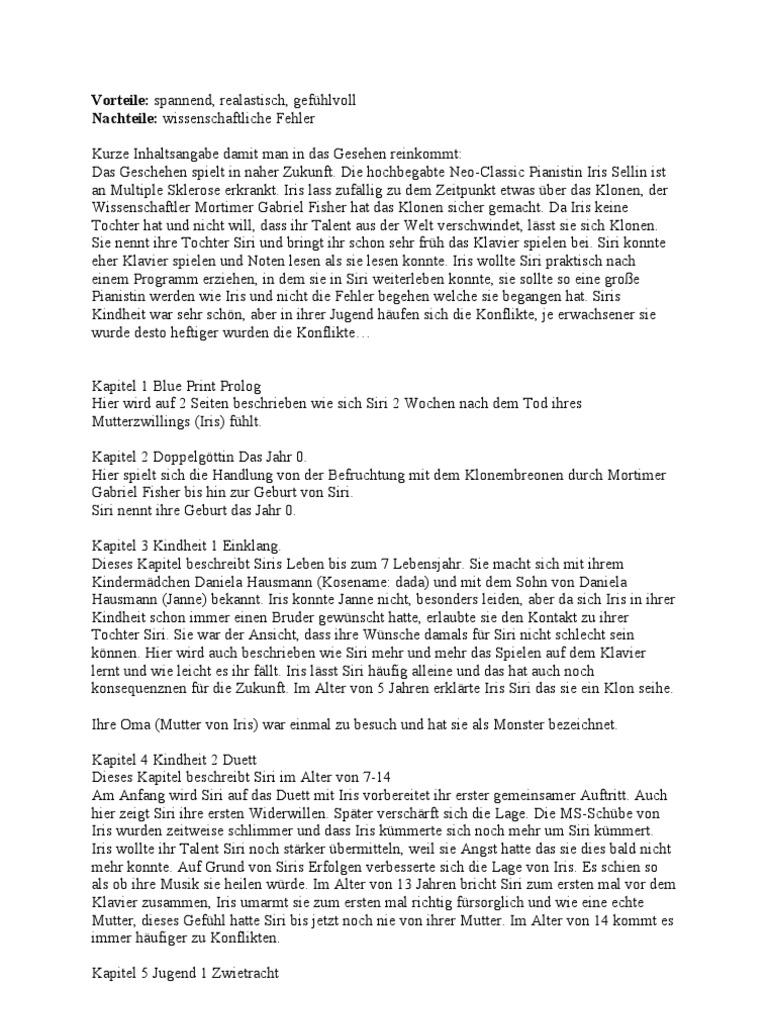 Zusammenfassung des buches blueprint blaupause von charlotte kerner malvernweather Images
