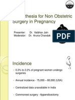Anaesthesia for Non Obstetric Surgery in Pregnancy