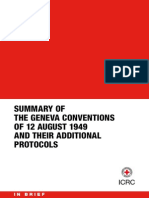 SUMMARY OF THE GENEVA CONVENTIONS
