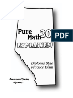 Pure Math 30 Diploma Exam - Combinatorics Answers
